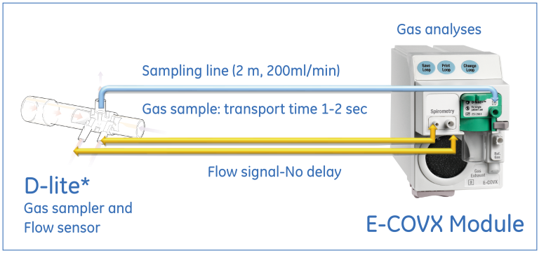 Figure 2. Synchronization of gas and flow curves