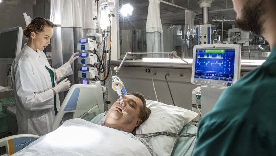 ICU patient ventilated